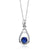 0.94 Ct Round Blue Simulated Sapphire 925 Sterling Silver Pendant 18""