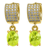 Gem Stone King 3.37 Ct Yellow Lemon Quartz 18K Yellow Gold Plated Silver Earrings