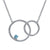 0.15 Ct Round Swiss Blue Topaz 925 Sterling Silver Necklace