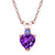 0.44 Ct Purple Amethyst Blue Tanzanite 18K Rose Gold Plated Silver Pendant