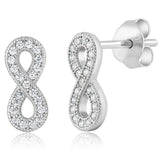 925 Silver Infinity Ring, Pendant, & Earring Set Made With Swarovski Zirconia