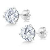 Forever Classic 1.60cttw DEW Created Moissanite Martini Earrings 14K White Gold