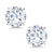 Forever Classic 1.60cttw DEW 6mm Created Moissanite Stud Earrings 14K White Gold