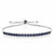 Blue Sapphire 925 Sterling Silver Fully Adjustable Tennis Bracelet, 2.50 Cttw