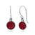 2.00 Ct Round Red Ruby 925 Sterling Silver Dangle Earrings 6mm