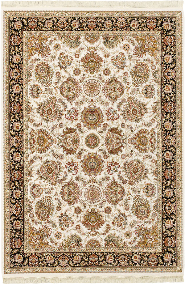 Hand Loomed Chinese Traditional King-David-400-Lines Area rug  Cream 7.1 x 11.2