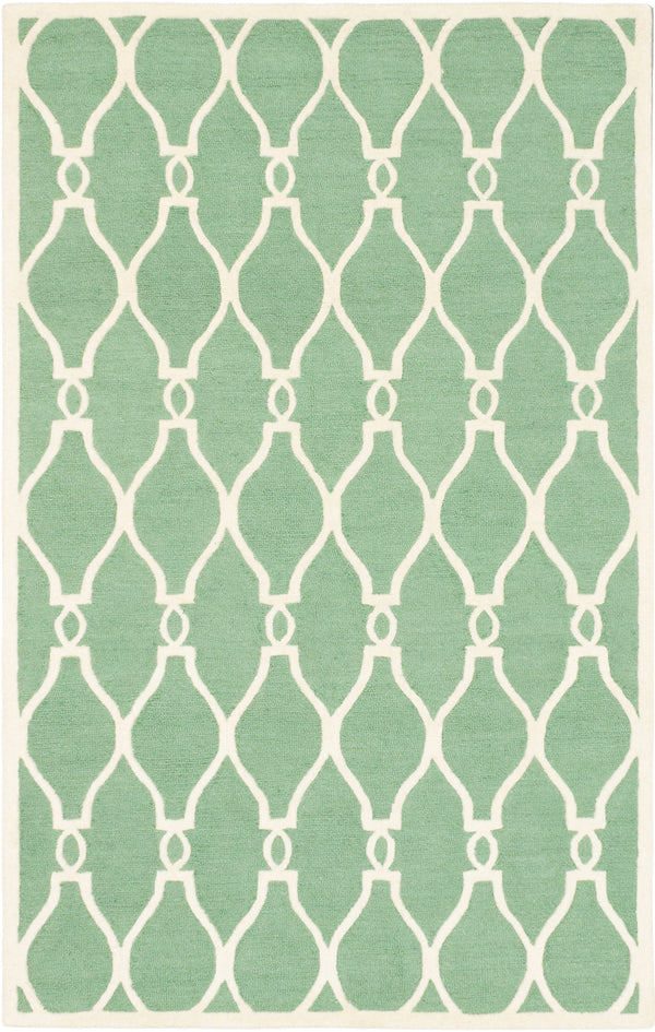 "Hand Tufted Indian Casual Kasbah Area rug  Cream, Light Green 5'0 x 8'0"" """