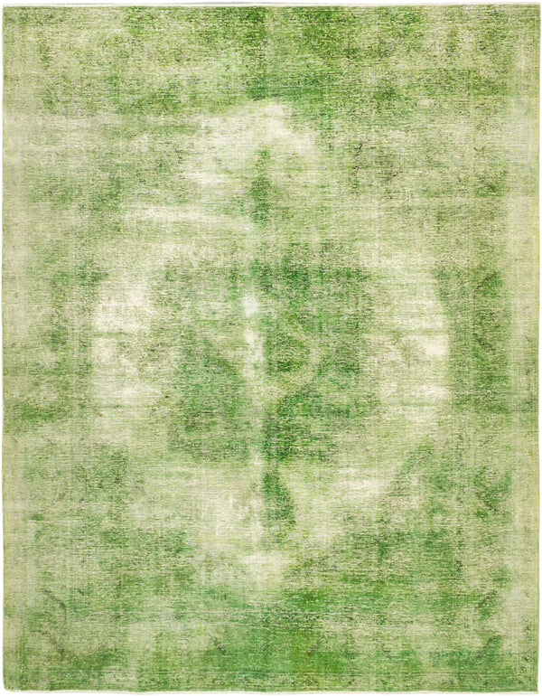 "Hand-knotted Turkish Transitional Color-Transition Area rug  Dark Lime 9'6 x 12'2"" """