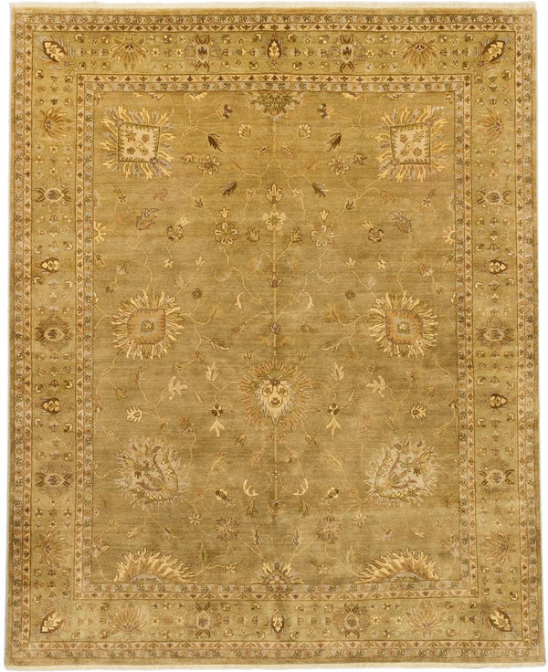 "Hand-knotted Indian Traditional Jamshidpour Area rug  Beige 8'0 x 9'10"" """