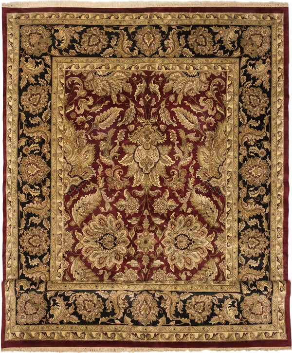 "Hand-knotted Indian Traditional Sultanabad Area rug  Dark Red 13'6 x 22'0"" """