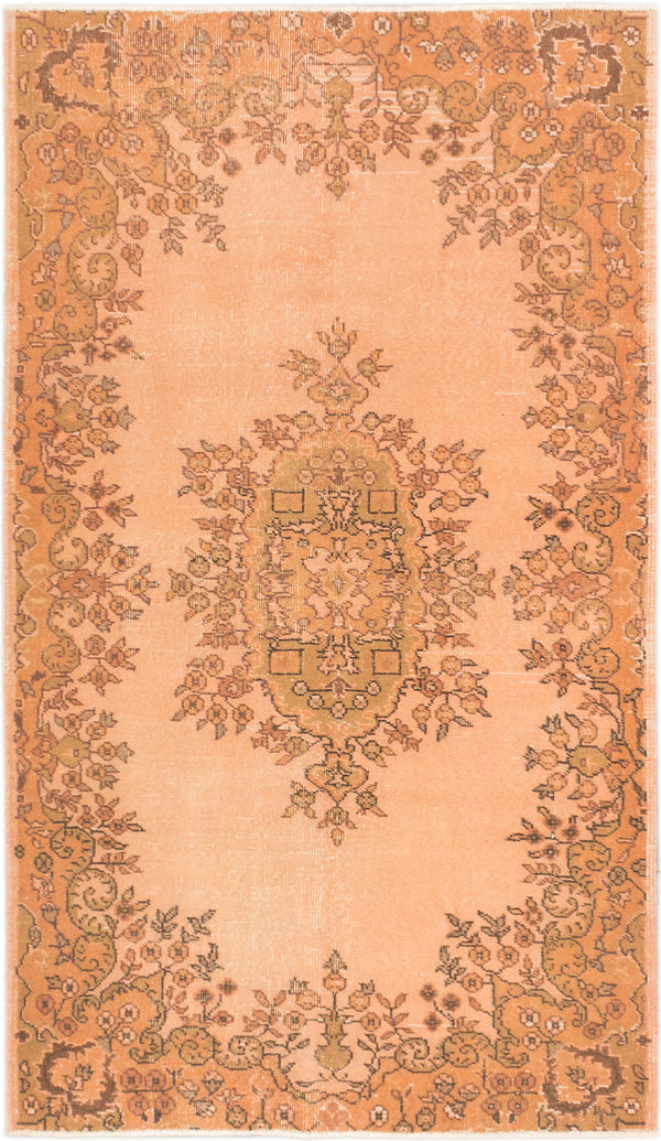 "Hand-knotted Turkish Transitional Anatolian-Overdyed Area rug  Copper, Ivory 3'11 x 6'9"" """
