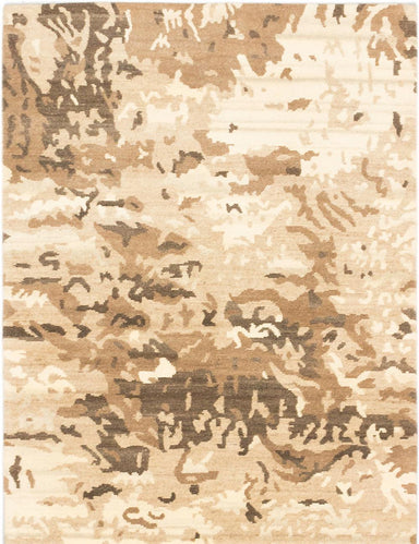 "Hand-knotted  Bohemian  Contemporary Aurora Area rug  Beige, Brown 4'9 x 6'9"" """