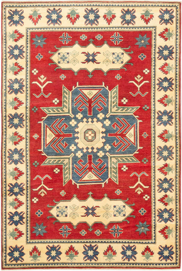 "Hand-knotted Afghan Traditional Finest-Gazni Area rug  Dark Burgundy 5'11 x 8'9"" """