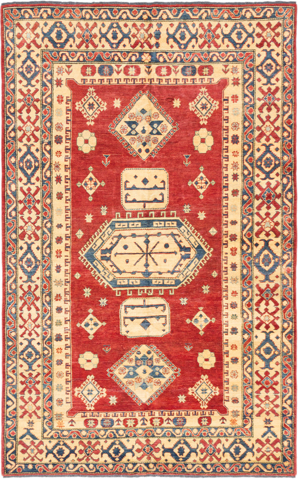 "Hand-knotted Afghan Traditional Finest-Gazni Area rug  Dark Burgundy 7'3 x 11'7"" """