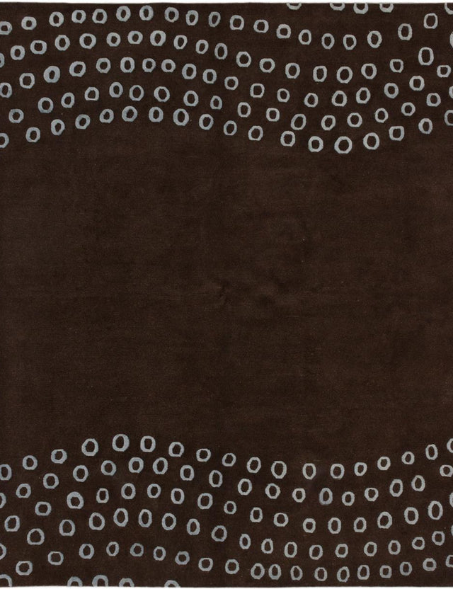 "Hand-knotted  Bohemian  Contemporary Opulence Area rug  Dark Brown 8'0 x 10'0"" """