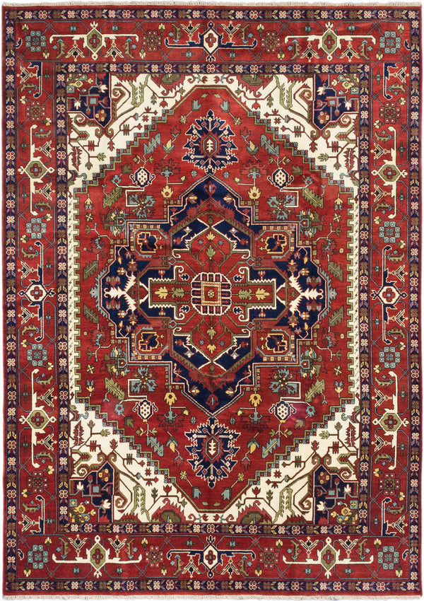 "Hand-knotted Indian Traditional Serapi-Heritage Area rug  Dark Copper 10'0 x 13'11"" """