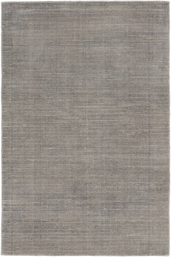 Hand-knotted  Transitional Shimmer Area rug  Grey 5 x 8.2