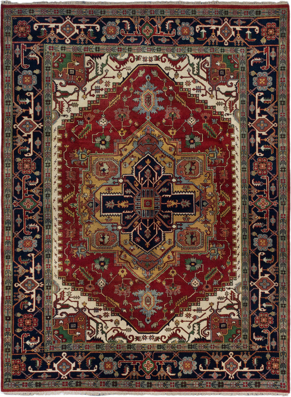 "Hand-knotted Indian Traditional Serapi-Heritage Area rug  Dark Copper 9'0 x 12'1"" """