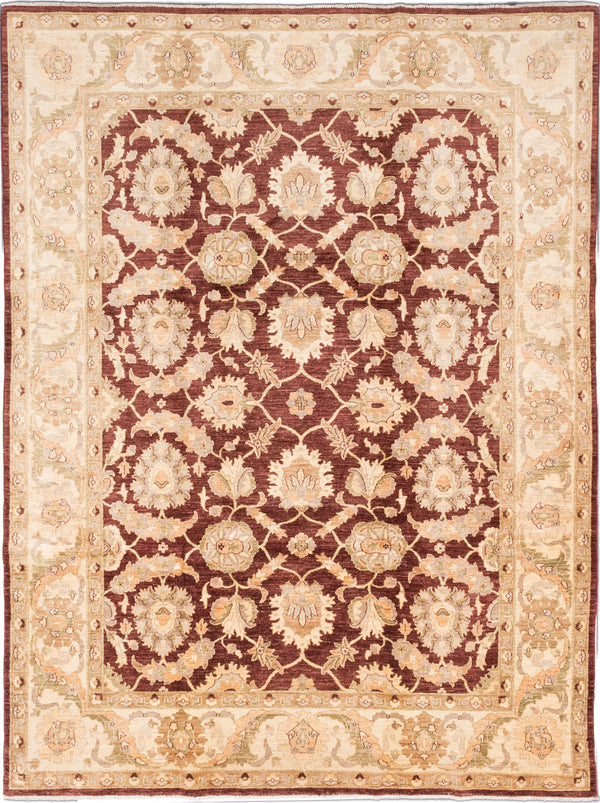 "Hand-knotted Afghan Traditional Chobi-Finest Area rug  Brown 9'0 x 12'1"" """