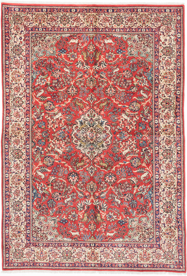 "Hand-knotted  Traditional Sarough Area rug  Copper 7'0 x 10'2"" """