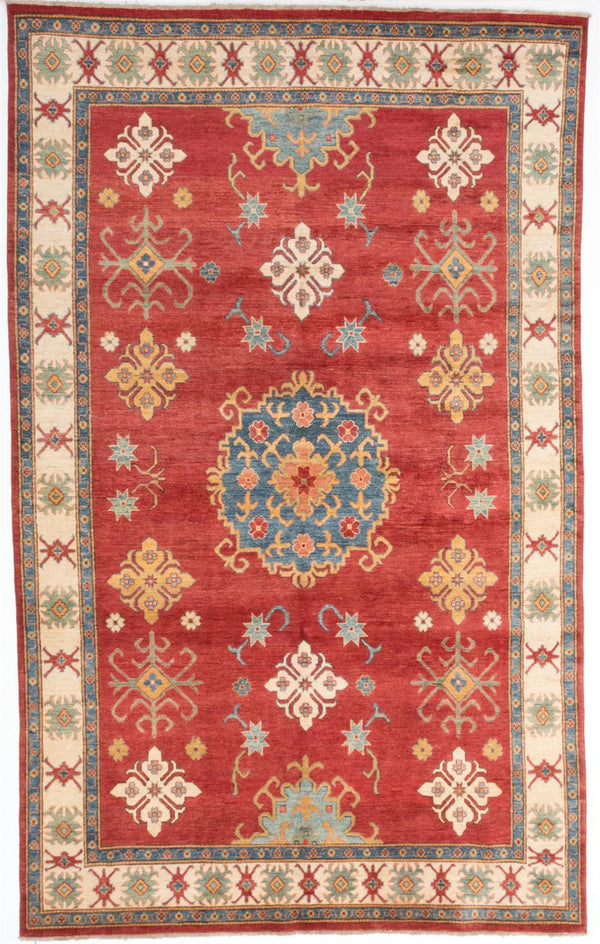 "Hand-knotted Afghan Traditional Finest-Gazni Area rug  Dark Burgundy 7'3 x 11'8"" """