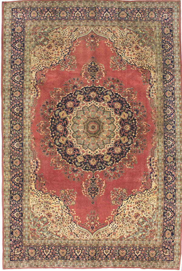 "Hand-knotted Indian Traditional Kashmir Area rug  Copper 8'4 x 12'11"" """