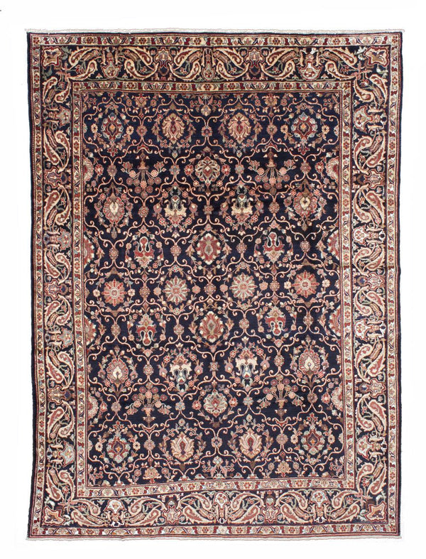 "Hand-knotted  Traditional Nahavand Area rug  Dark Navy 10'5 x 13'5"" """