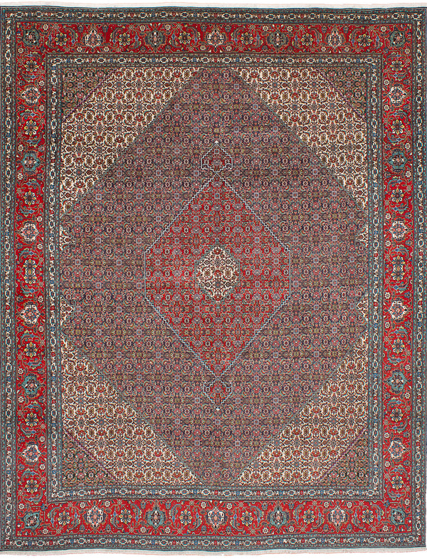 "Hand-knotted  Traditional Tabriz-50L Area rug  Dark Copper, Dark Navy 10'0 x 12'10"" """