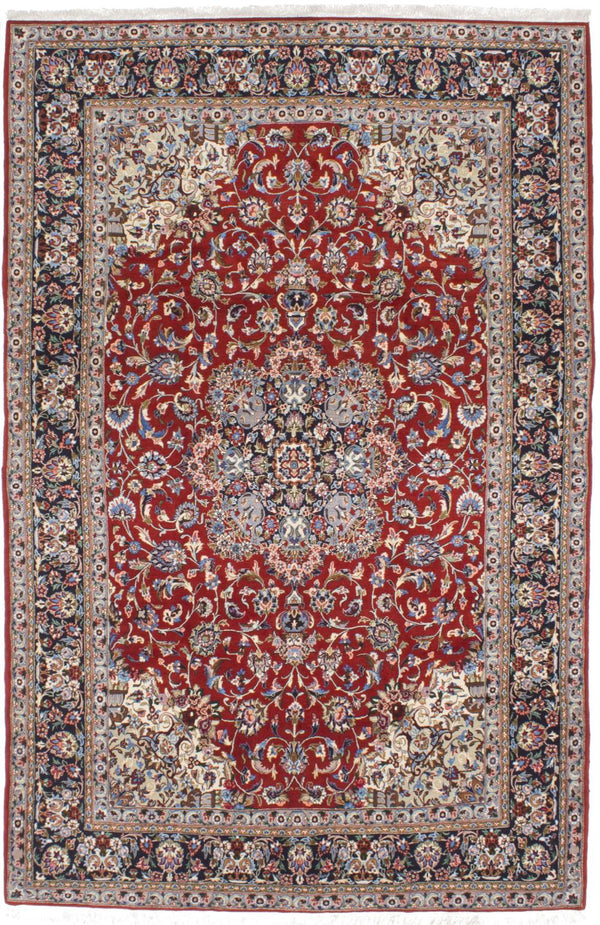 "Hand-knotted  Traditional Sarough-Finest Area rug  Dark Burgundy 7'2 x 10'9"" """