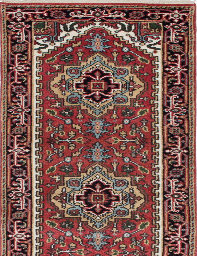 "Hand-knotted Indian Floral  Traditional Serapi-Heritage Runner rug  Dark Orange 2'6 x 16'2"" """