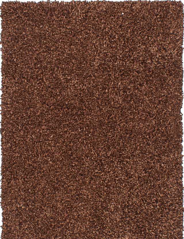 "Hand Tufted Indian Plush & Shags Ribbon Area rug  Dark Brown 4'6 x 6'6"" """