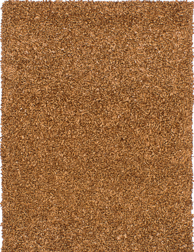 "Hand Tufted Indian Plush & Shags Ribbon Area rug  Light Brown 4'6 x 6'6"" """