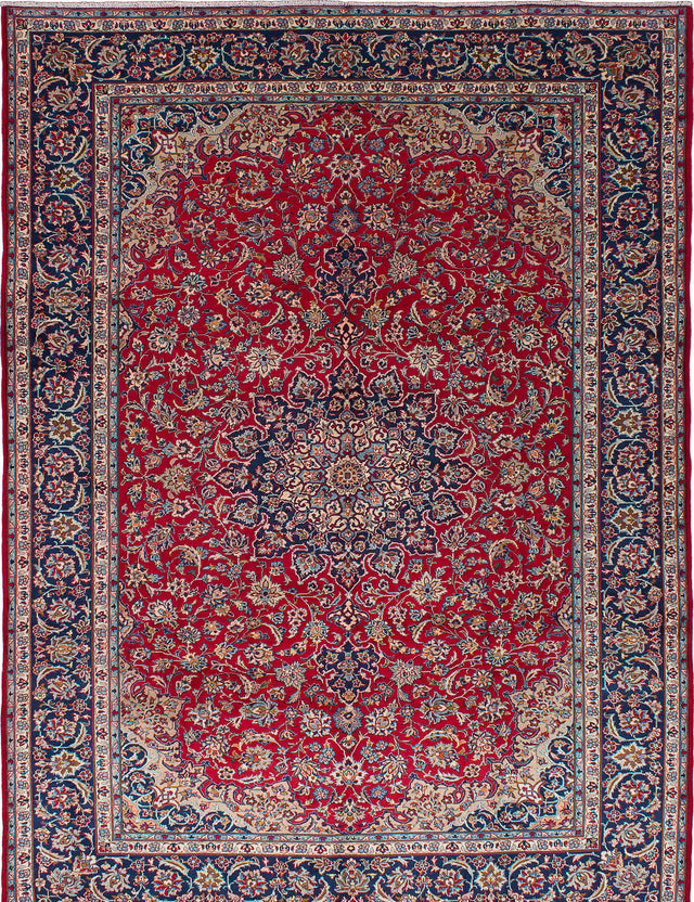 "Hand-knotted  Vintage Isfahan Area rug  Dark Burgundy 9'11 x 13'4"" """