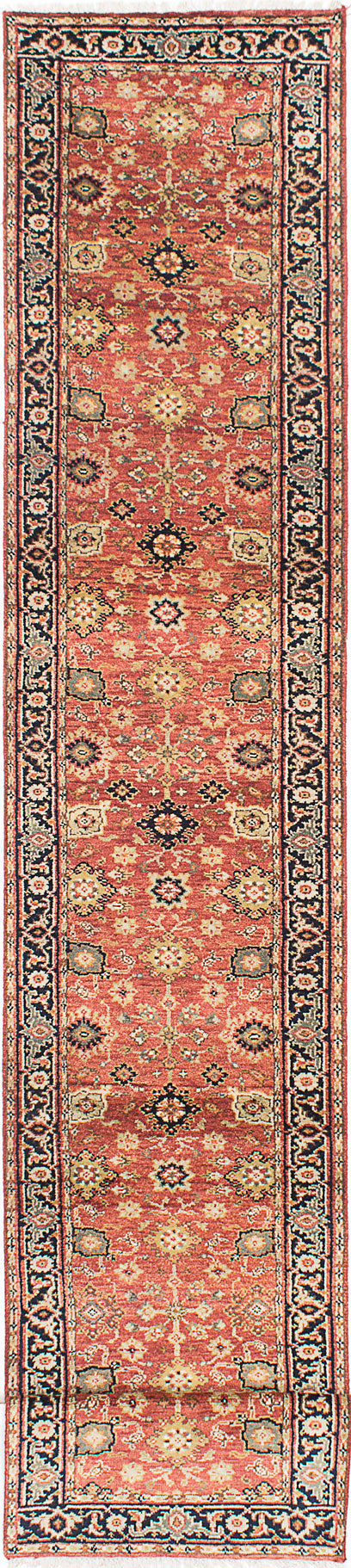 "Hand-knotted Indian Floral  Traditional Serapi-Heritage Runner rug  Copper 2'7 x 19'10"" """
