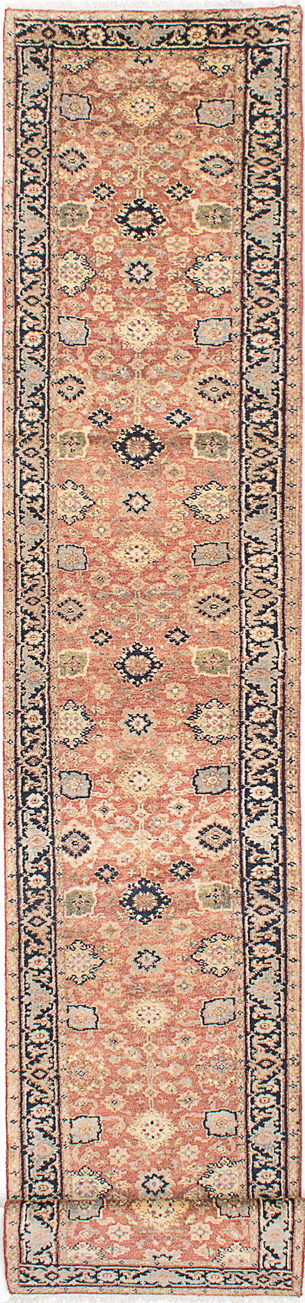 Hand-knotted Indian Floral  Traditional Serapi-Heritage Runner rug  Copper 2.6 x 20.2