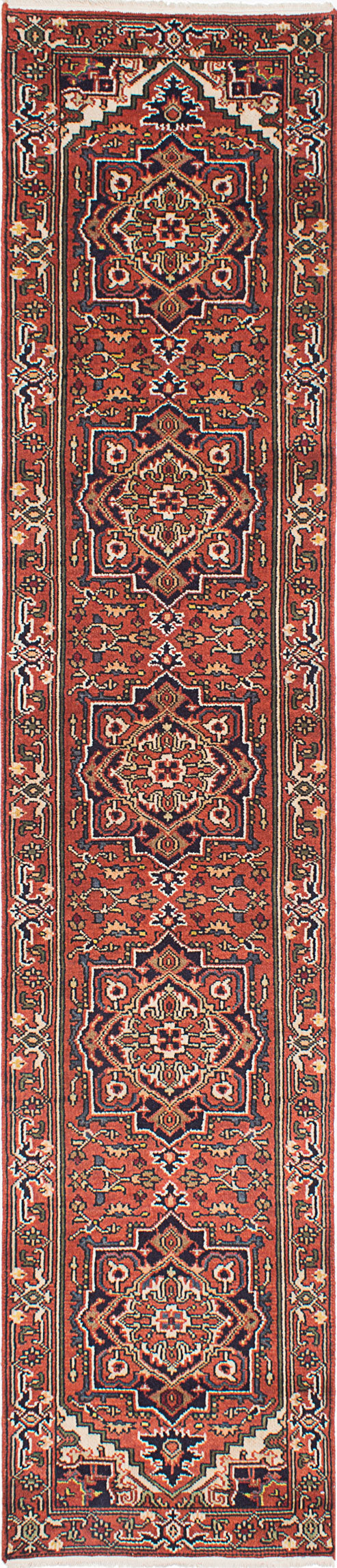 "Hand-knotted Indian Floral  Traditional Serapi-Heritage Runner rug  Copper 2'7 x 12'1"" """