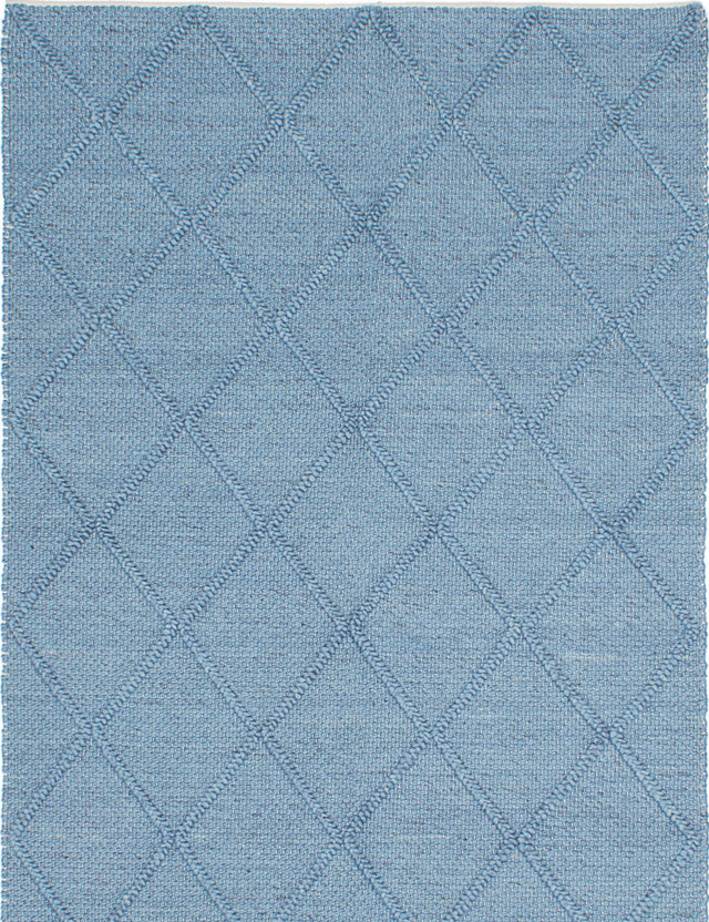 "Braided weave Indian Transitional Diamond Area rug  Sky Blue 5'0 x 8'0"" """