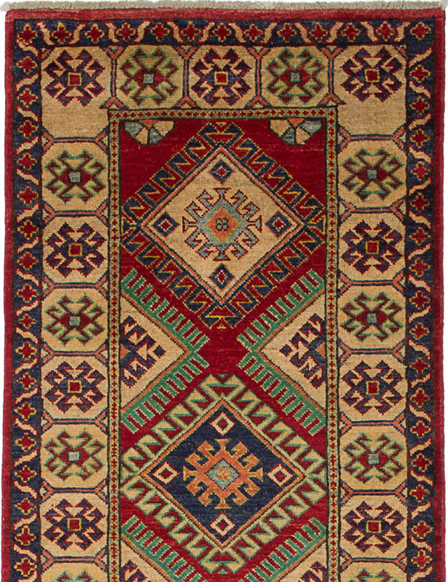 Hand-knotted Area rug Traditional Ivory, Red