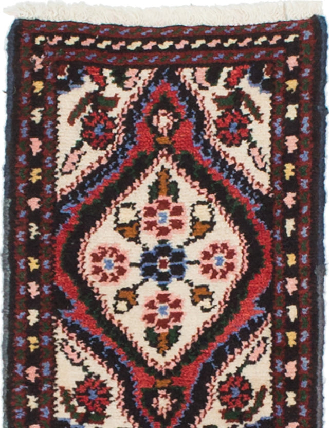 Hand-knotted  Traditional Hamadan Area rug  Cream 1.2 x 1.9