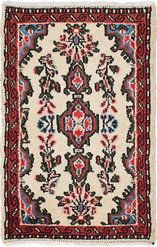 Hand-knotted Area rug Traditional Ivory