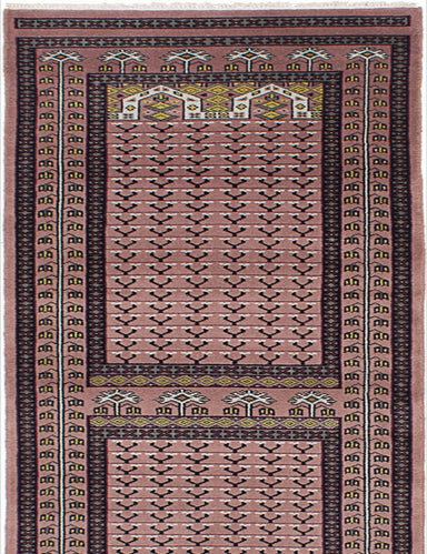 "Hand-knotted Pakistani Traditional Peshawar-Bokhara Runner rug  Tan 2'10 x 9'10"" """