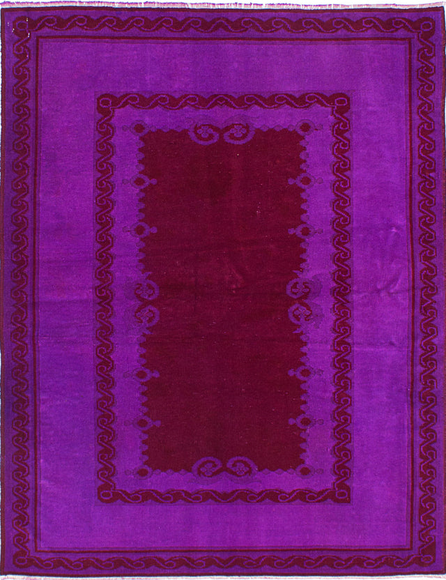 "Hand-knotted Turkish Bohemian  Transitional Color-Transition Area rug  Dark Red, Purple 4'8 x 6'0"" """