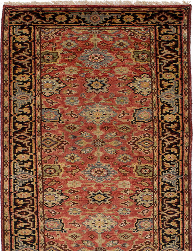 "Hand-knotted Indian Floral  Traditional Serapi-Heritage Runner rug  Red 2'7 x 16'2"" """