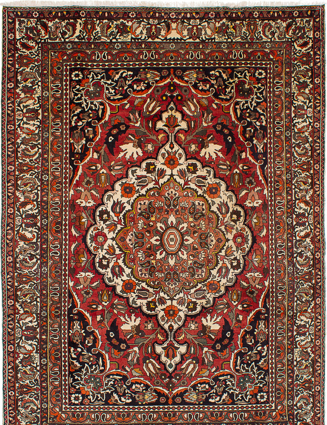 "Hand-knotted  Vintage Bakhtiar Area rug  Red 7'9 x 11'0"" """