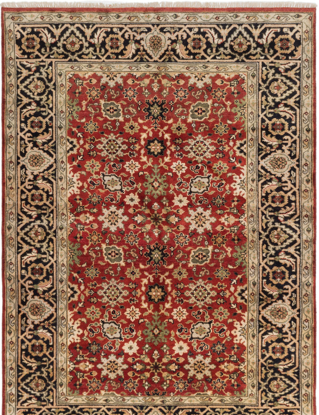 "Hand-knotted Indian Floral  Traditional Serapi-Heritage Area rug  Red 6'2 x 8'9"" """