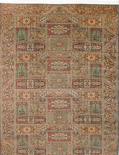 "Hand-knotted Turkish Traditional Keisari Area rug  Beige, Khaki 8'2 x 11'4"" """