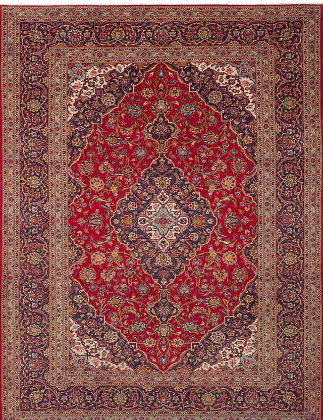 Hand-knotted Area rug Bordered, Persian, Traditional Red
