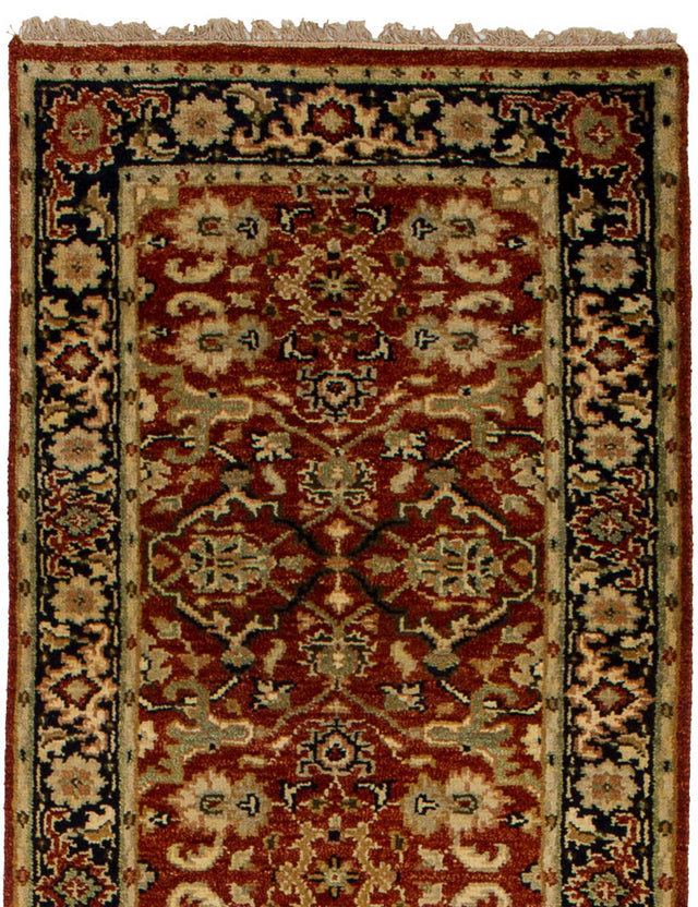 Hand-knotted Indian Traditional Serapi-Heritage Runner rug  Dark Red 2.7 x 15.11