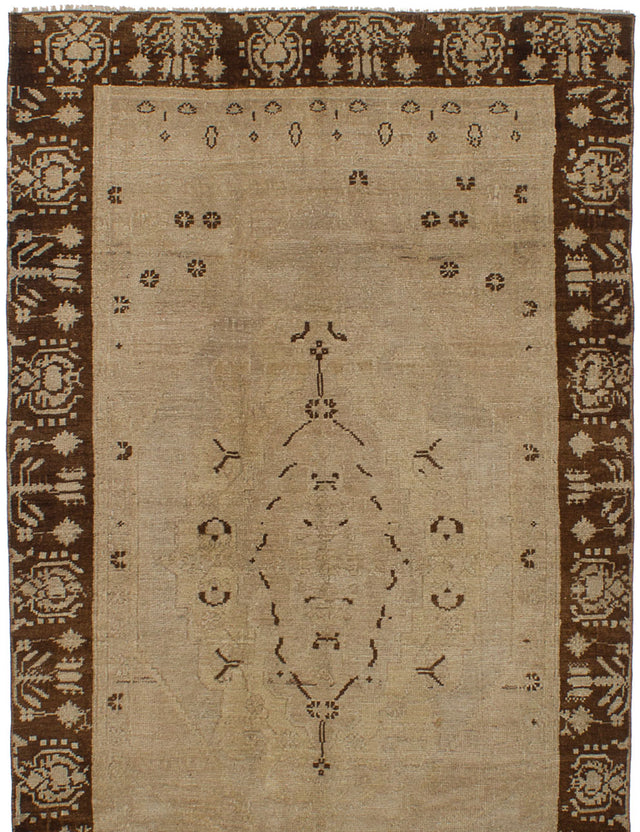 Hand-knotted Area rug Bohemian, Bordered, Vintage Yellow