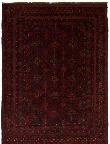 Hand-knotted Afghan Bohemian  Tribal Tajik-Caucasian Area rug  Red 4.3 x 6.3